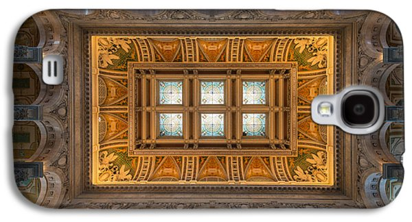 Great Hall Ceiling Library Of Congress Galaxy S4 Case by Steve Gadomski