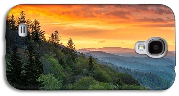 Great Smoky Mountains North Carolina Scenic Landscape Cherokee Rising Galaxy S4 Case