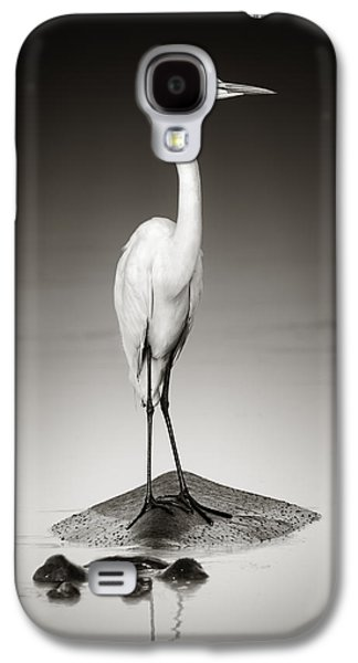 Great White Egret On Hippo Galaxy S4 Case by Johan Swanepoel