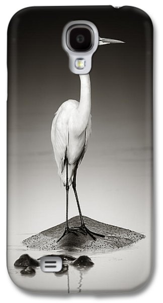 Hippopotamus Galaxy S4 Case - Great White Egret On Hippo by Johan Swanepoel