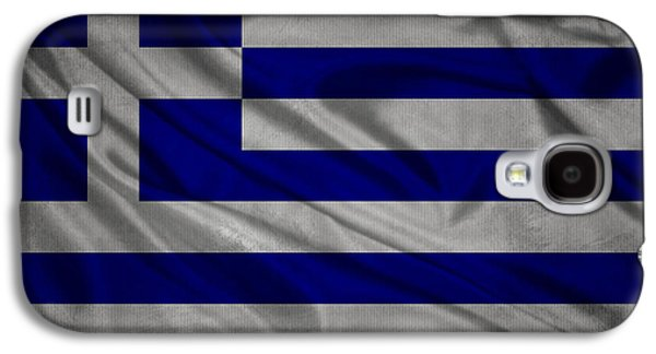 Greek Flag Waving On Canvas Galaxy S4 Case by Eti Reid