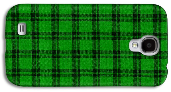 Green And Black  Plaid Cloth Background Galaxy S4 Case by Keith Webber Jr
