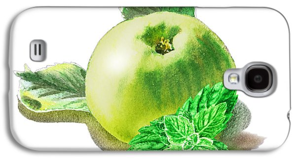 Green Apple And Mint Happy Union Galaxy S4 Case by Irina Sztukowski