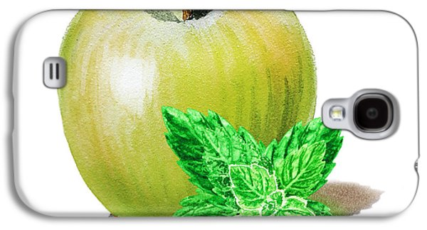Galaxy S4 Case featuring the painting Green Apple And Mint by Irina Sztukowski