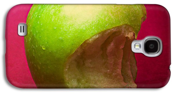 Green Apple Nibbled 3 Galaxy S4 Case