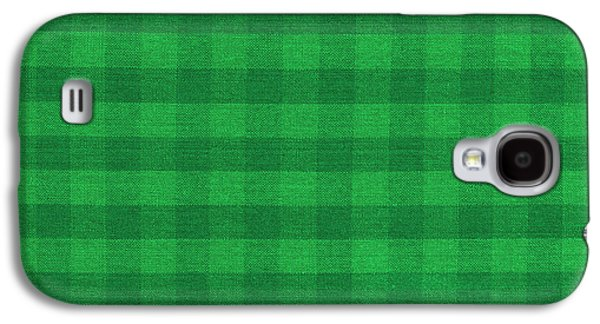 Green Checkered Pattern Cloth Background Galaxy S4 Case by Keith Webber Jr