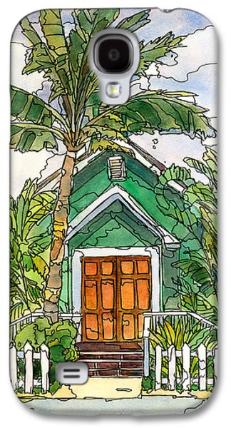 Green Church Galaxy S4 Case by Stacy Vosberg