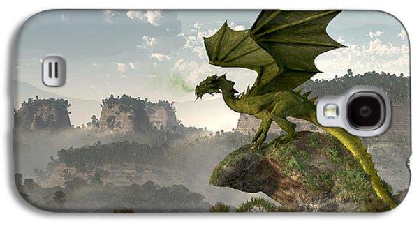 Green Dragon Galaxy S4 Case by Daniel Eskridge