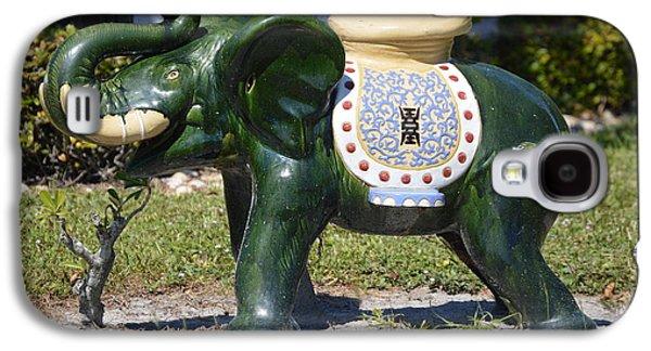 Decorative Galaxy S4 Case - Green Elephant  by Doug Grey