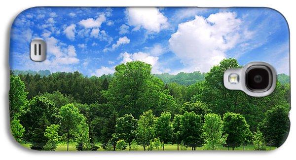 Green Forest Galaxy S4 Case by Elena Elisseeva