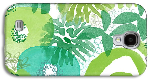 Green Garden- Abstract Watercolor Painting Galaxy S4 Case by Linda Woods