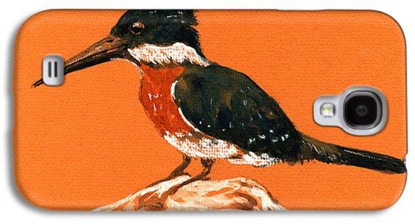 Green Kingfisher Galaxy S4 Case by Juan  Bosco