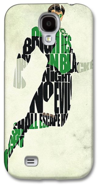 Green Lantern Galaxy S4 Case by Ayse Deniz