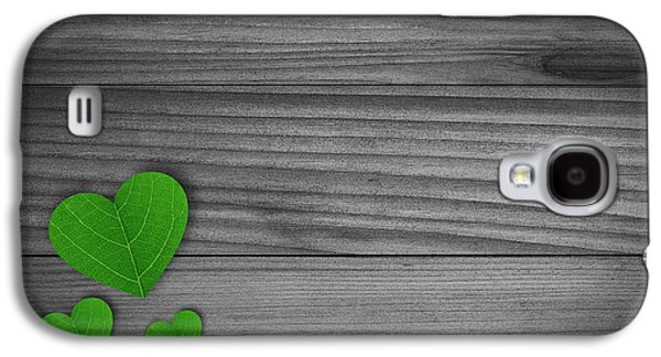 Green Pedal Shaped Hearts Galaxy S4 Case