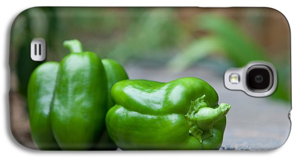 Green Peppers Galaxy S4 Case by Kay Pickens