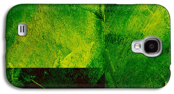 Green Square Abstract Galaxy S4 Case