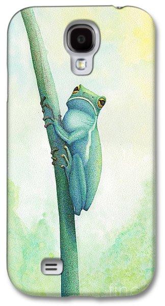 Green Tree Frog Galaxy S4 Case by Wayne Hardee