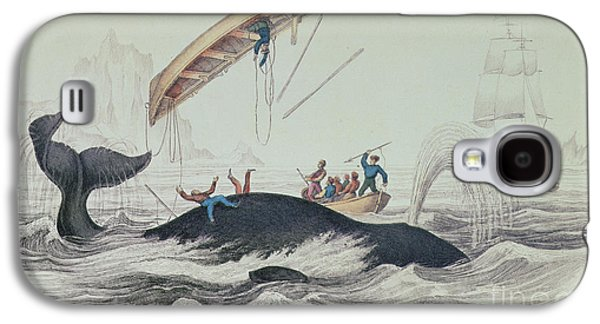Greenland Whale Book Illustration Engraved By William Home Lizars  Galaxy S4 Case
