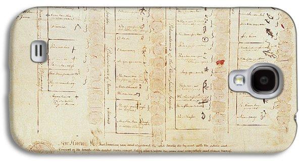 Greenville Treaty, 1795 Galaxy S4 Case by Granger