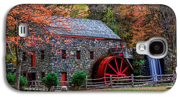 Grist Mill In Autumn Galaxy S4 Case by Laura Duhaime