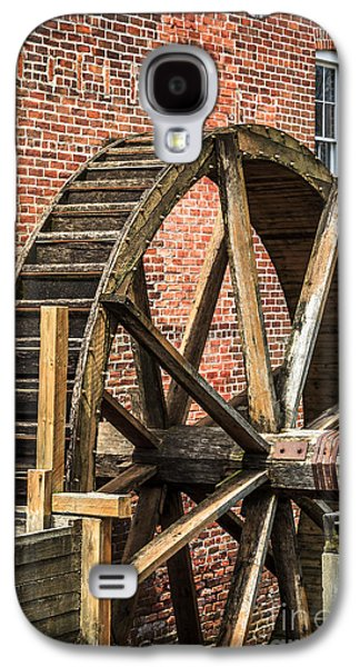 Grist Mill Water Wheel In Hobart Indiana Galaxy S4 Case by Paul Velgos
