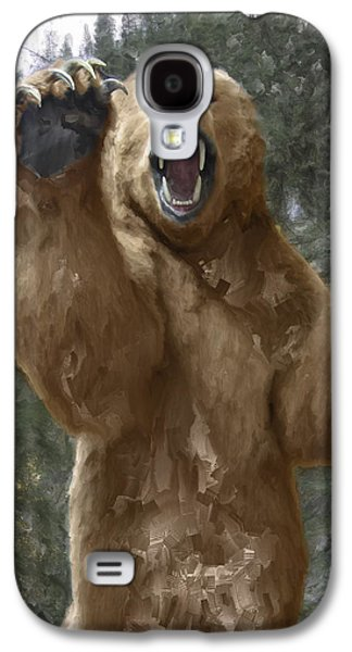 Grizzly Bear Attack On The Trail Galaxy S4 Case
