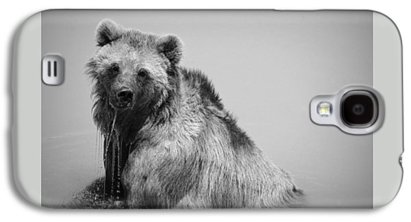 Galaxy S4 Case featuring the photograph Grizzly Bear Bath Time by Karen Shackles