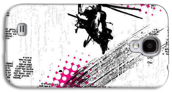 Helicopter Galaxy S4 Case - Grunge Vector Background Illustration by Elanur Us