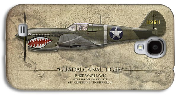Guadalcanal Tiger P-40 Warhawk - Map Background Galaxy S4 Case
