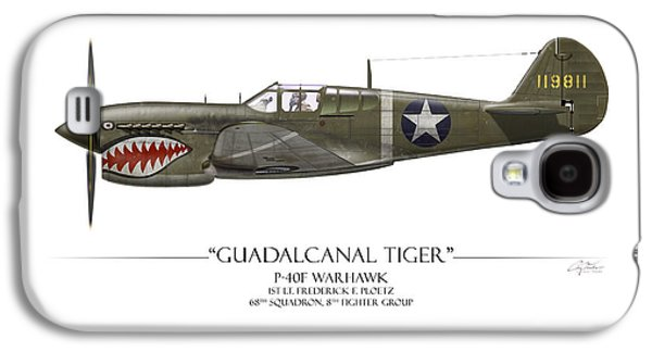 Guadalcanal Tiger P-40 Warhawk - White Background Galaxy S4 Case by Craig Tinder