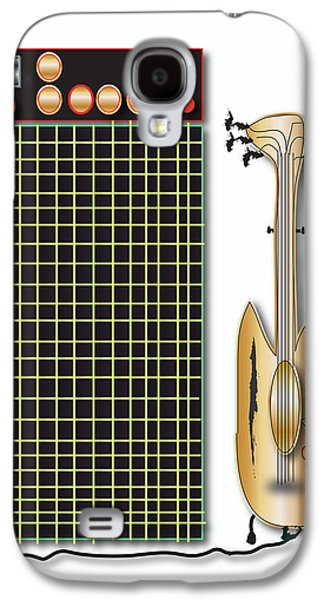 Galaxy S4 Case featuring the digital art Guitar And Amp by Marvin Blaine