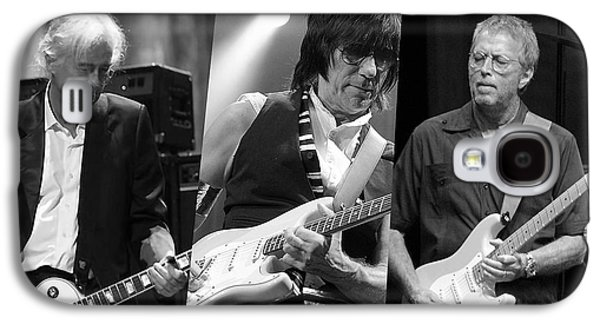 Guitar Legends Jimmy Page Jeff Beck And Eric Clapton Galaxy S4 Case by Marvin Blaine