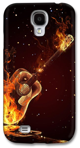 Guitar  Galaxy S4 Case by Mark Ashkenazi