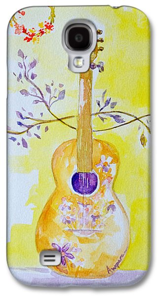 Guitar Of A Flower Girl Live Love Be Happy Galaxy S4 Case by Patricia Awapara