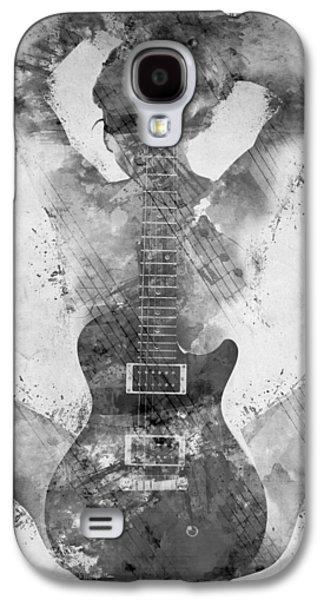 Guitar Galaxy S4 Case - Guitar Siren In Black And White by Nikki Smith