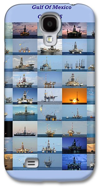 Gulf Of Mexico Oil Rigs Poster Galaxy S4 Case