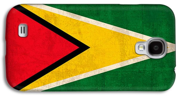 Guyana Flag Vintage Distressed Finish Galaxy S4 Case