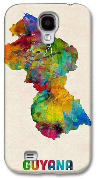 Guyana Watercolor Map Galaxy S4 Case by Michael Tompsett