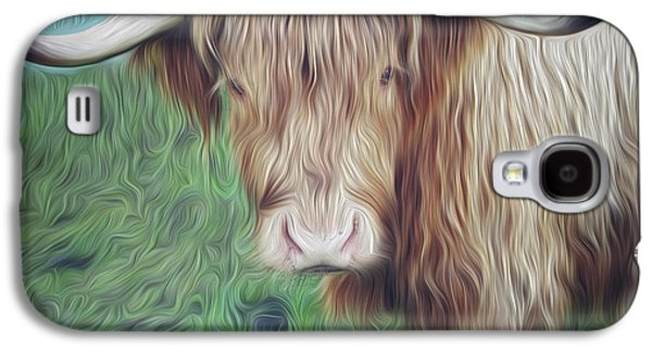 Hairy Cow Galaxy S4 Case by Les Cunliffe