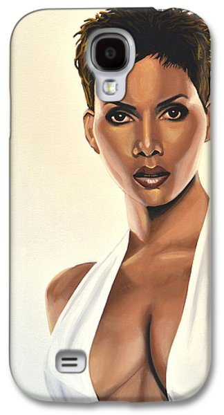 Halle Berry Painting Galaxy S4 Case by Paul Meijering