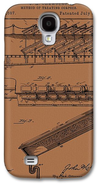 Halloween Coffins Galaxy S4 Case by Dan Sproul