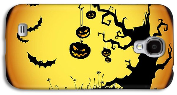 Halloween Haunted Tree Galaxy S4 Case by Gianfranco Weiss