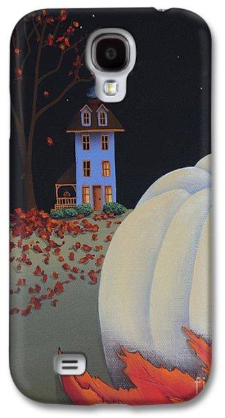 Halloween On Pumpkin Hill Galaxy S4 Case by Catherine Holman