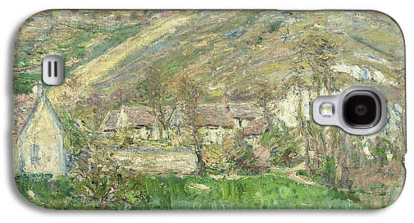 Hamlet In The Cliffs Near Giverny Galaxy S4 Case by Claude Monet
