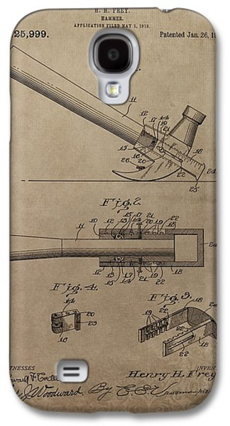 Hammer Patent Drawing Galaxy S4 Case by Dan Sproul