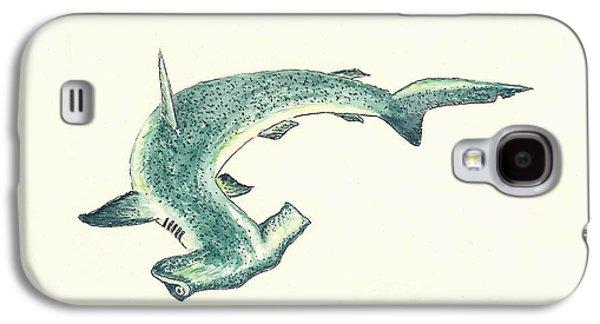 Hammerhead Shark Galaxy S4 Case by Michael Vigliotti