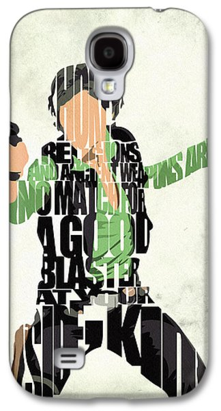Han Solo From Star Wars Galaxy S4 Case by Ayse Deniz