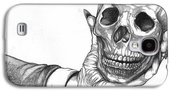 Hand Holding Skull Galaxy S4 Case by Joseph Capuana