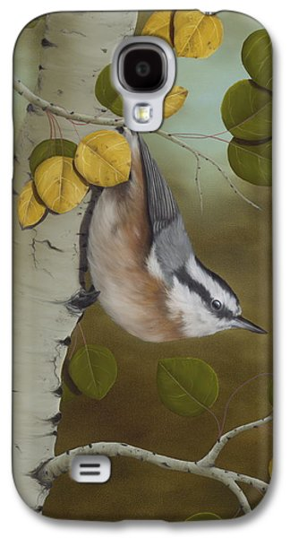 Hanging Around-red Breasted Nuthatch Galaxy S4 Case