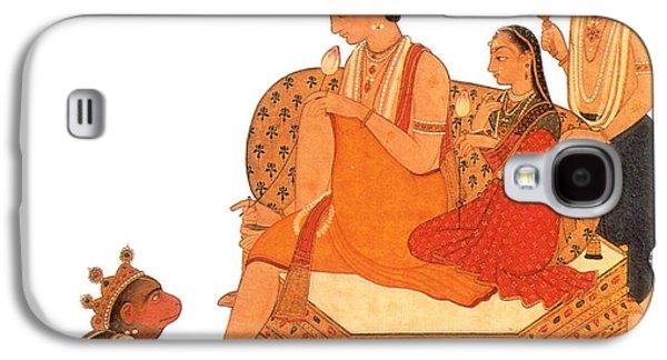 Hanuman Worshipping Rama Galaxy S4 Case